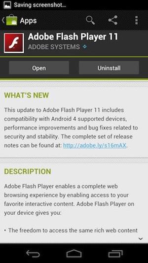 Flash Player cho Android 4.0 đã có trên Android Market.