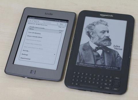 Kindle, thương hiệu máy đọc sách được nhiều người chọn. Ảnh: Tuấn Hưng.