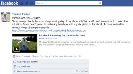 Bài học cho giới trẻ trên Facebook.