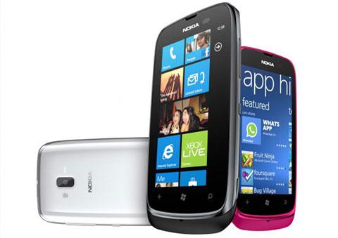 Lumia 610 với mức giá khoảng 5 triệu.