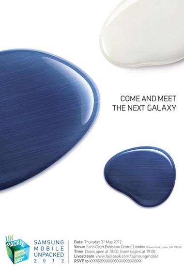 Thư mời đầy đủ về sự kiện được cho là giới thiệu Galaxy S III của Samsung.