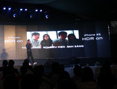 HTC lấy iPhone 4S để so sánh với One X trong bài giới thiệu sản phẩm.