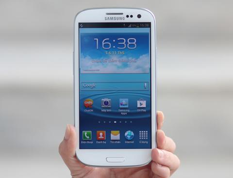 Galaxy S III, mẫu smartphone Android đang được chờ đợi nhất hiện nay. Ảnh: Tuấn Anh.