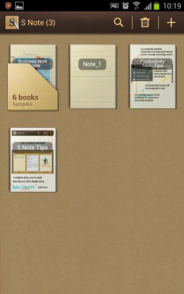 Ứng dụng S Note được làm mới so với phiên bản 2.3