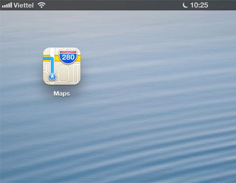 Sau 5 năm gắn bó, Apple đã quyết định bỏ hệ thống bản đồ Google Maps trên các sản phẩm iOS. Trong bản beta iOS 6, hãng đã giới thiệu icon mới cho biểu tượng bản đồ.
