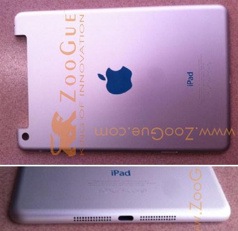 Các chi tiết trên khá trùng với hình ảnh bộ vỏ iPad Mini được đăng trên ZooGue.