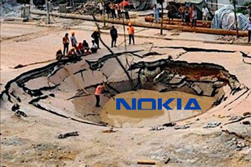 Hình ảnh được Wall Street Journal dùng để mô tả tình thế của Nokia.