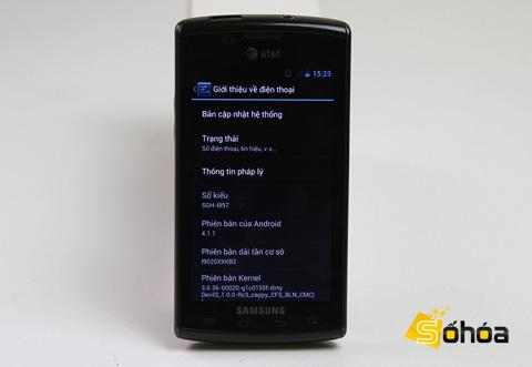 Thông tin cho thấy máy chạy Android 4.1.1.