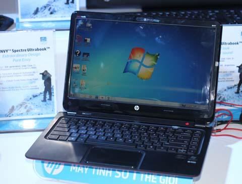 Hình ảnh mẫu Envy 6 chạy chip Intel tại sự kiện ra mắt của HP. Ảnh: Quốc Huy.