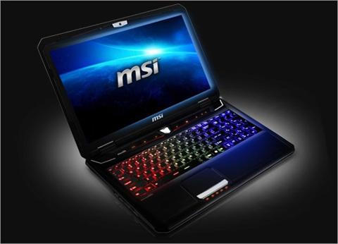 Laptop chơi game của MSI có bàn phím do SteelSeries sản xuất. Ảnh: Notebookcheck.