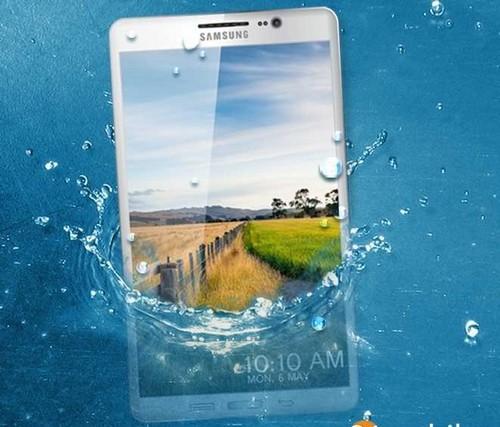 Nhiều khả năng Galaxy S5 sẽ có khả năng chống thấm nước và bám bụi. Ảnh:
