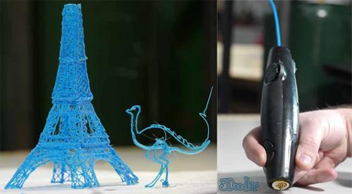 Công ty sản xuất robot và đồ chơi WobbleWorks đã tạo ra chiếc bút có khả năng vẽ hình 3D chân thực và sinh động. Trong khi bạn phải chi tới hàng nghìn USD để sở hữu một chiếc máy in 3D thì chiếc bút đặc biệt 3Doodler chỉ có giá 75 USD (khoảng 1,5 triệu đồng) khi đặt hàng trên trang Kickstarter. 3Doodler được mệnh danh là chiếc bút vẽ 3D đầu tiên trên thế giới, cho phép bạn thỏa sức sáng tạo muôn hình vẽ khác nhau ngay giữa không gian.