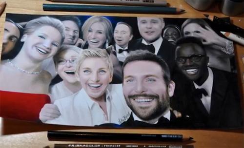 Họa sĩ Heather Rooney vẽ lại bức ảnh được chia sẻ hơn 3 triệu lần trên Twitter