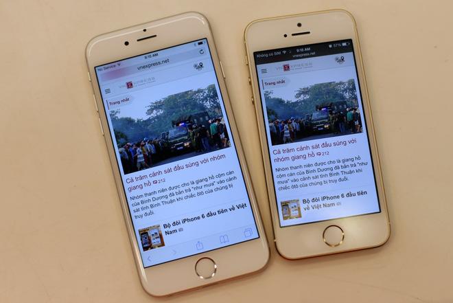 iphone 6 cũ và iphone 5s cũ