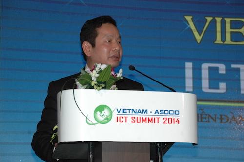 Ông Trương Gia Bình, Chủ tịch VINASA. Ảnh: Bình Phan.