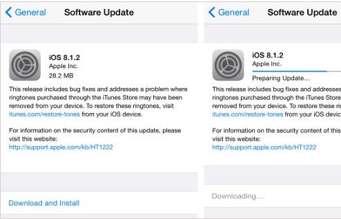 Apple tung iOS 8.1.2, sửa lỗi về nhạc chuông