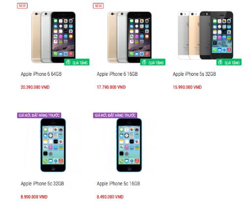 iPhone 5C chính hãng bán trở lại, giá rẻ hơn 2 triệu đồng
