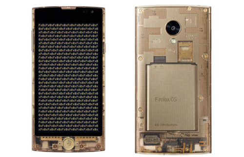 LG Fx0 Smartphone vỏ trong suốt chạy Firefox OS