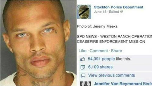 Hình ảnh tên tội phạm Jeremy Meeks với ánh mắt sâu thẳm