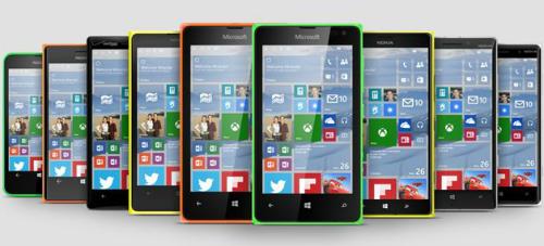 Việc cập nhật Windows 10 sẽ không thực hiện trên tất cả điện thoại Lumia.