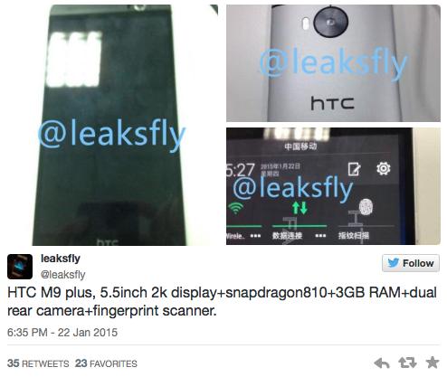 HTC One M9 Plus màn hình 2K, RAM 3GB lộ diện | tin giai tri