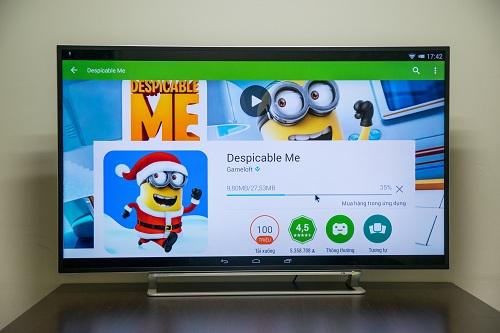Sử dụng Android 4.4 KitKat là lợi thế để người dùng tiếp cận kho ứng dụng khổng lồ thông qua chiếc TV với kết nối Internet.