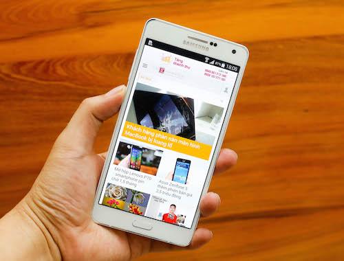 Đập hộp smartphone mỏng nhất của Samsung - Galaxy A7