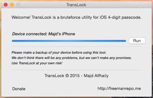 Mật khẩu khóa iPhone, iPad có thể phá bằng phần mềm
