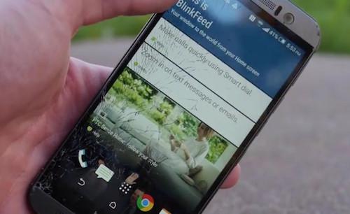 id420342 3174 1427430455 HTC One M9 bị vỡ màn hình trong bài kiểm tra độ bền