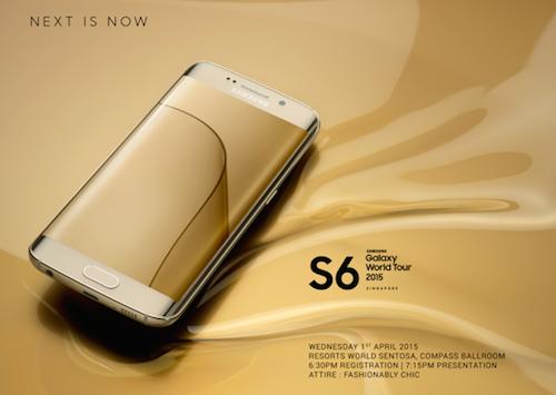 Thư mời của Samsung cho lễ ra mắt ngày 1/4.