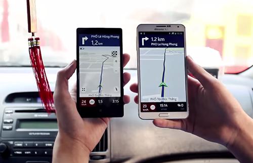 """Here Maps hỗ trợ phần lớn các smartphone, cho phép định vị và dẫn đường """"offline"""". Ảnh: Schannel."""