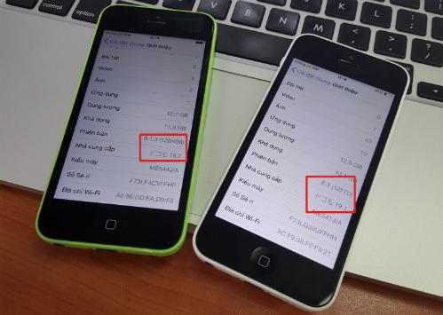 Thông số mạng thay đổi nếu người dùng cập nhật iOS hoặc cập nhật thông tin mạng.