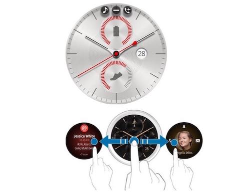 Đồng hồ thông minh mặt tròn của Samsung rò rỉ giao diện