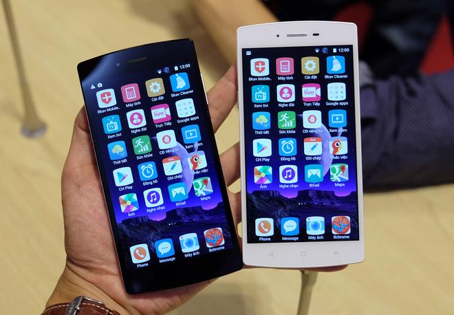 Ảnh thực tế điện thoại Bphone của BKAV ngày giới thiệu