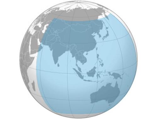 Khu vực bao phủ dịch vụ của BeiDou hiện tại. Ảnh: Wikipedia.