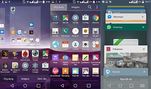 Giao diện tuỳ biến của LG trên Android 5.0.