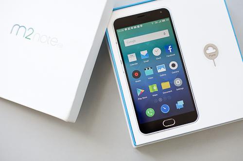 Meizu M2 Note có giá dự kiến 4 triệu đồng nhưng có cấu hình mạnh với chip 8 nhân, RAM 2GB, chạy Android 5.1 và màn hình Full HD.