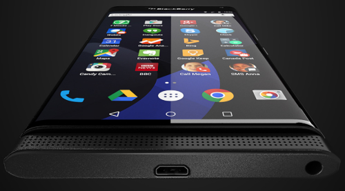 BlackBerry Venice - smartphone Android cao cấp chạy Android của BlackBerry. Ảnh: @evleaks.