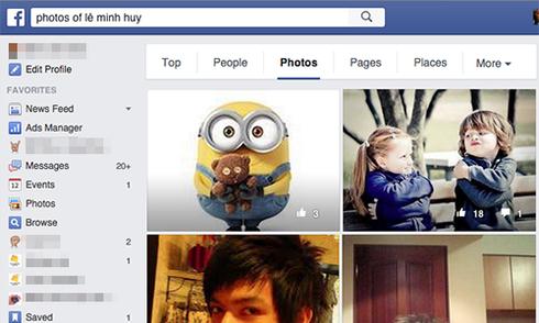 Mẹo xem ảnh đã ẩn của bạn bè trên Facebook