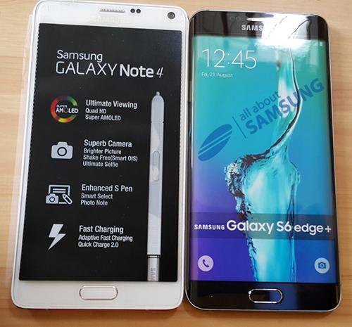 Pin dự phòng MiLi Power: Mô hình S6 edge Plus đọ dáng Galaxy Note 4