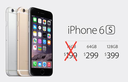 Apple có thể không phát hành iPhone 6S và 6S Plus bản 16 GB. Ảnh minh họa.