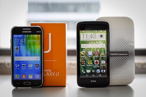 Bộ đôi smartphone phổ thông giá thấp tới từ Samsung và HTC.