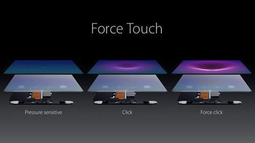 Công nghệ Force Touch được coi là điểm sáng trên mẫu iPhone mới.