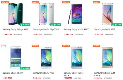 Pin dự phòng MiLi Power: Giá smartphone Samsung giảm cả triệu đồng trước khi Note 5 ra mắt