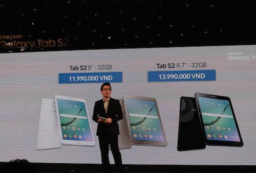 Máy tính bảng Galaxy Tab S2 về Việt Nam, giá từ 12 triệu đồng