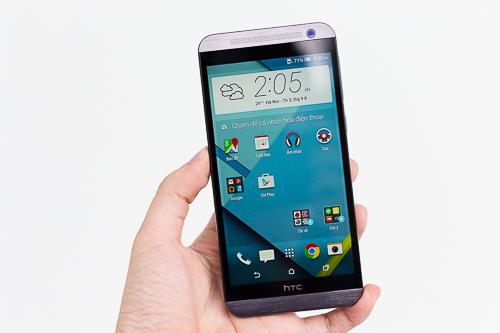 Màn hình S-LCD Full HD với độ phân giải 5,5 inch của One E9 cho hình ảnh sắc nét, đẹp nhưng màu trắng hơi ám vàng.