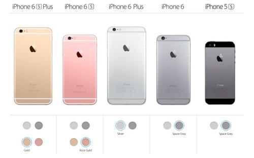 Apple quy hoạch lại các phiên bản iPhone đời cũ sau khi 6s và 6s Plus ra mắt.