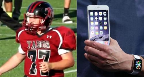 Paul Houle được cứu sống nhờ Apple Watch và còn được tặng cả iPhone.