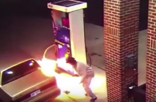 Gây hoạ vì bật lửa giết nhện tại trạm xăng