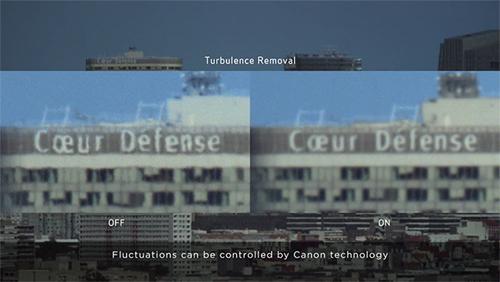 Công nghệ Turbulence Removal giúp hình ảnh có độ chính xác cao hơn khi chụp ở khoảng cách xa.